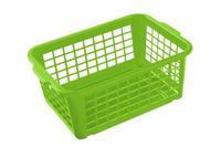 Košík mini, plast, světle zelený