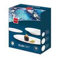 "Sada jídelních talířů ""Elba"", 18 ks, opálové sklo"