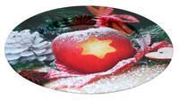 Plechový podnos 33cm jablko