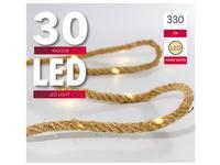 Vánoční světelný řetěz 30 LED přírodní 3,3m