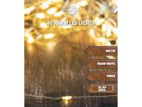 Vánoční světelný řetěz 40 LED s časovačem 4m