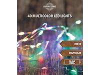 Vánoční světelný barevný řetěz 40 LED s časovačem 2m