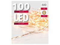 Vánoční světelný řetěz 100 LED měděný 5m