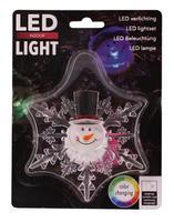 Vánoční okenní LED dekorace 11cm s přísavkou