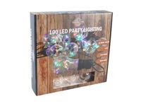Party osvětlení 10x duhová koule s časovačem 100LED 4,5m