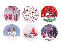Plechový podnos 28cm MIX vánočních motivů