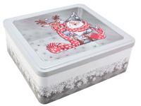 Dóza na vánoční cukroví 23x22x9cm Santa