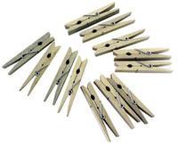Dřevěné kolíčky na prádlo TORO 24ks