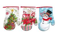 Kuchyňská chňapka, rukavice, vánoční, assort