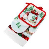 Kuchyňský vánoční set - utěrka, chňapka, rukavice