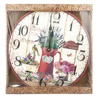 Nástěnné hodiny, kulaté, různé motivy