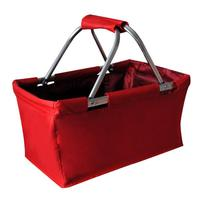 Skládací nákupní košík TORO 29l červený
