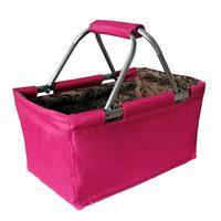 Skládací nákupní košík TORO 29l růžový