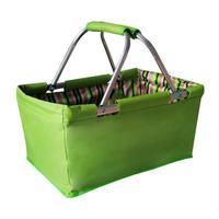 Skládací nákupní košík TORO 29l zelený