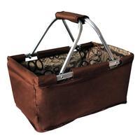 Skládací nákupní košík TORO 29l hnědý
