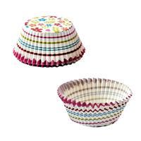 Papírové košíčky na muffiny TORO 60ks kytičky