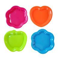 Talíř, 4 ks, tvar jablko, plast