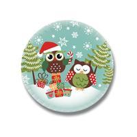 Papírový party talíř 20cm TORO 10ks, vánoční sova