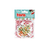 Papírové vánoční ozdoby TORO 7-8 cm 12ks
