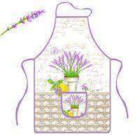 Zástěra kuchyňská, levandule, polyester