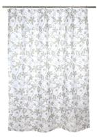 Sprchový závěs, polyester, 180 x 180 cm, motiv květy