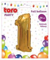 Balónek foliový TORO číslice 1 30cm