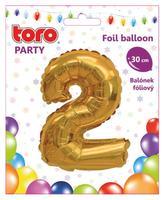 Balónek foliový TORO číslice 2 30cm