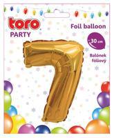 Balónek foliový TORO číslice 7 30cm