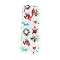 Taška dárková vánoční, papír, úzká, assort