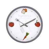 Nástěnné hodiny kulaté, pr. 25,5 cm, ovoce/zelenina