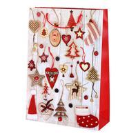 Taška dárková vánoční, velká, papír, assort