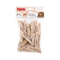 Dřevěné dekorační mini kolíčky TORO 50ks
