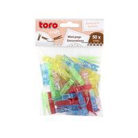 Kolíčky plastové, 50 ks, assort barev