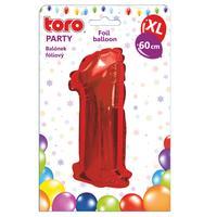 """Balónek XL, číslice """"1"""", 60 cm, matně červený"""