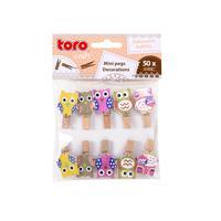 Dřevěné dekorační kolíčky TORO sova 10ks