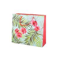 Papírová dárková taška TORO 25x28cm listy+květy