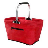 Skládací nákupní košík TORO červený