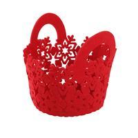 Plstěný košík TORO 15cm červený