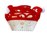 Plstěný košík TORO 12cm červeno bílý