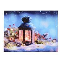 Svítící 1LED obraz 30x40cm TORO plátno, lucerna