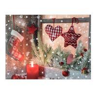 Svítící 1LED obraz 30x40cm TORO plátno, vánoce