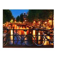 Svítící 6LED obraz 30x40cm TORO plátno, město