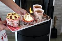 Papírové košíčky na muffiny TORO 60ks linecké