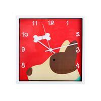 Nástěnné hodiny TORO 24x24cm pes, králík