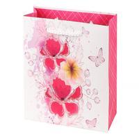 Papírová dárková taška TORO 15x14,5x6cm květi...