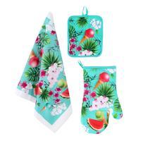 Kuchyňský set TORO léto - rukavice, chňapka, utěrka