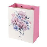Papírová dárková taška TORO 23x18x10cm květiny