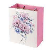 Papírová dárková taška TORO 44x31x12cm květiny