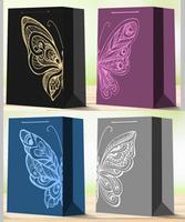 Papírová dárková taška TORO 23x18x10cm motýl