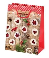 Papírová vánoční dárková taška TORO 23x18x10cm linecké